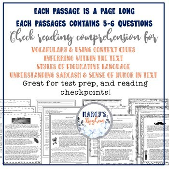 Summer Reading Comprehension Passages for 4th, 5th & 3rd