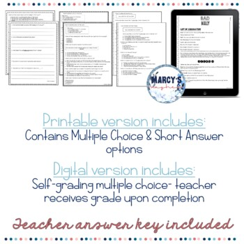 Reading Comprehension Passages 4th grade & 5th summer practice worksheets