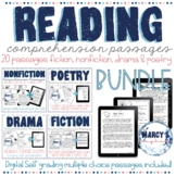Reading Comprehension Passages & questions 4th & 5th grade: Digital & printable