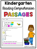 Reading Comprehension Passages for Kindergarten