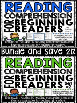Reading Comprehension Passages for Beginning Readers Bundle