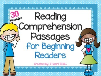 Reading Comprehension Passages for Beginning Readers- Guided Reading