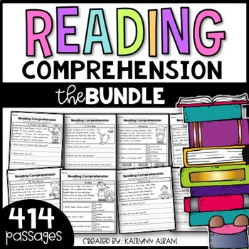 Reading Comprehension Passages for Early Readers - BIG BUNDLE - 400 Pages