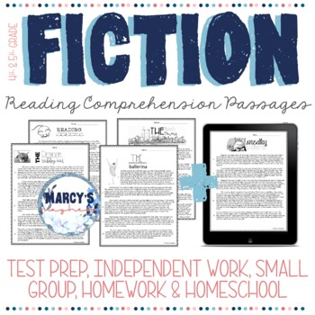 Reading comprehension passages and questions for 4th grade & 5th grade - fiction