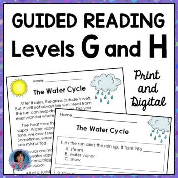 First Grade Reading Comprehension Passages for Guided Reading Levels G and H