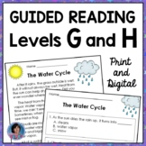 1st Grade Guided Reading Comprehension Passages and Questions: Levels G & H