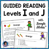 Reading Passages for Guided Reading Levels I and J