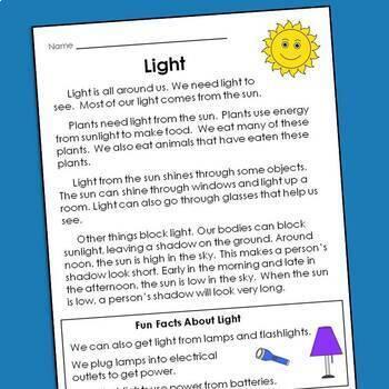 Common core reading comprehension passages pdf