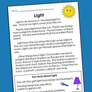 Comprehension Passages and Questions for Guided Reading Levels I and J