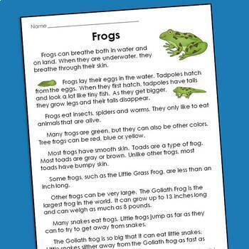 Reading Comprehension Passages and Questions for Guided Reading Levels I and J