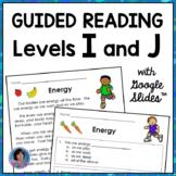 Digital 1st Grade Guided Reading Comprehension Passages: Levels I & J {Easel™ +}