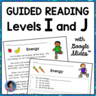 Reading Response Activities for Guided Reading Levels I and J