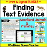 Reading Comprehension and Text Evidence Distance Learning BUNDLE