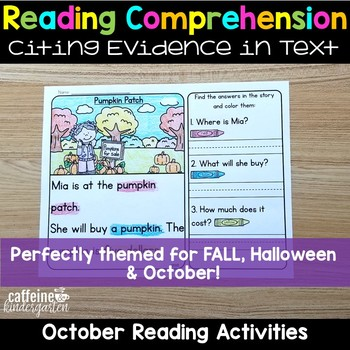 Reading Comprehension Passages for October Halloween and Fall