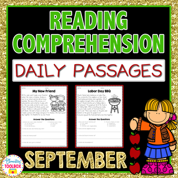 Reading Comprehension Passages and Questions for September