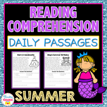 Reading Comprehension Passages and Questions for Summer