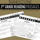 Thanksgiving Reading Comprehension Passages and Questions