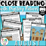 Reading Comprehension Passages in August Topics - PRINT On
