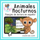 Reading Comprehension Passages in Spanish | Animales noctu