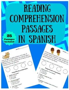 Reading Comprehension Passages in Spanish (Lectura facil en español)