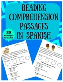 Reading Comprehension Passages in Spanish (Lectura facil e