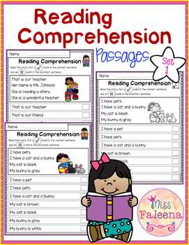 Reading Comprehension Passages (set 1)