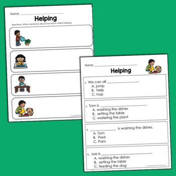 Guided Reading Level D Comprehension Passages with Text Evidence Questions