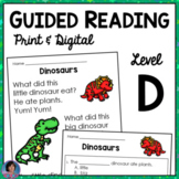 Kindergarten Guided Reading Comprehension Passages & Questions Level D {ELA}