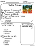 Plants & Animals(living/nonliving things) Reading Comprehe