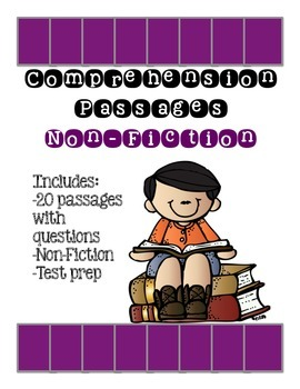 Reading Comprehension Worksheets with Questions: Non Fiction