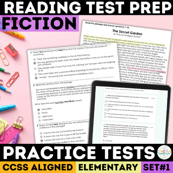 Reading Comprehension Passages with SBAC Questions Grades 3-5