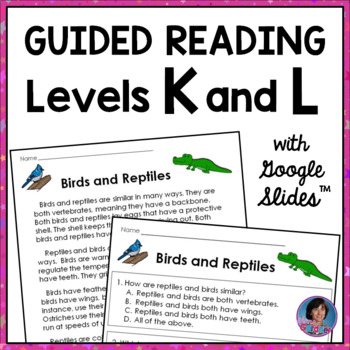 Second Grade Close Reading Passages for Guided Reading Levels K and L