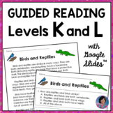 2nd Grade Reading Comprehension Passages & Questions Guided Reading Levels K & L