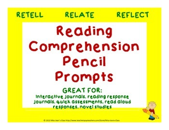 Retell, Relate, Reflect - Reading Comprehension Response Prompts