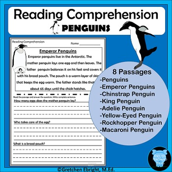 Reading Comprehension - Penguins - Passages and Questions