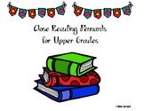 Reading Comprehension Pennants Upper Grade
