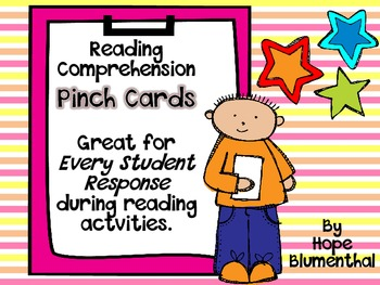 Reading Comprehension Pinch Cards for Every Student Response