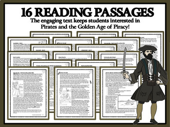 READING COMPREHENSION BUNDLE - Pirates, Privateers and the Golden Age of Piracy