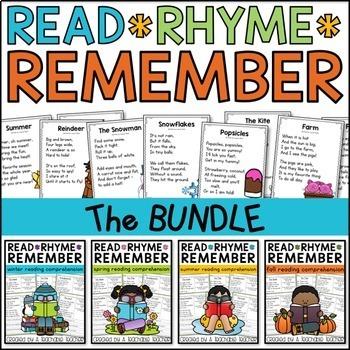 Reading Comprehension Poems - The BUNDLE