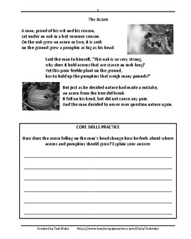 Reading Comprehension: Poetry (Common Core Worksheets)