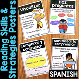 Reading Comprehension Posters - ALL Reading Strategies & Reading Skills SPANISH