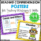 Reading Comprehension Strategies Posters Bright Chevron