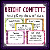 Reading Comprehension Posters-Bright Confetti Themed