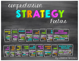 Reading Comprehension Posters - Bright and Chalkboard