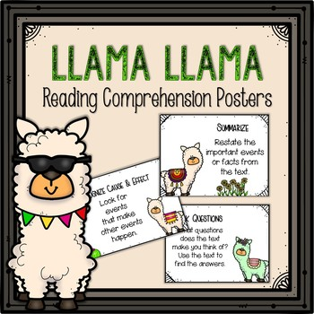 Reading Comprehension Posters-Llama Themed