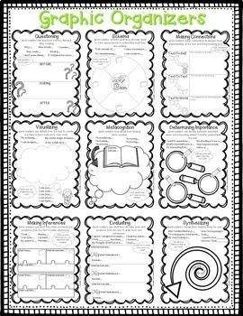 Reading Comprehension Strategy Posters 2nd 3rd 4th 5th Grade Style 3