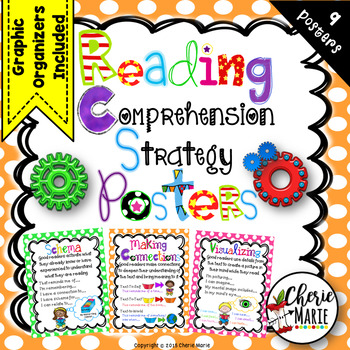Reading Comprehension Strategy Posters 2nd 3rd 4th 5th Gra
