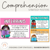Reading Comprehension Posters {Rainbow}