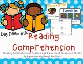 Reading Skills & Comprehension Posters and Differentiatd Response Sheets