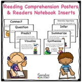 Reading Comprehension Strategies Posters and Reading Journals Inserts